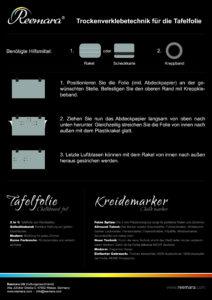 Downloads Klebeanleitung Tafelfolie